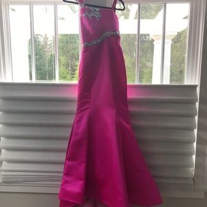 Sherri Hill jeweled one-shoulder prom dress